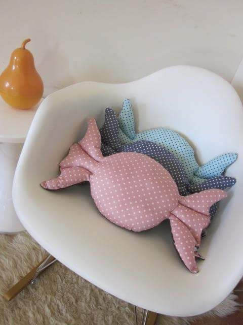 wrapped candy pillow