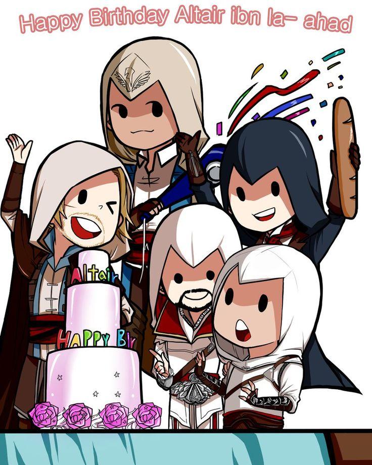 [AC1/AC2/AC3/AC4 BF/ACU] Happy Birthday Altaïr by Ellsy1220 on DeviantArt