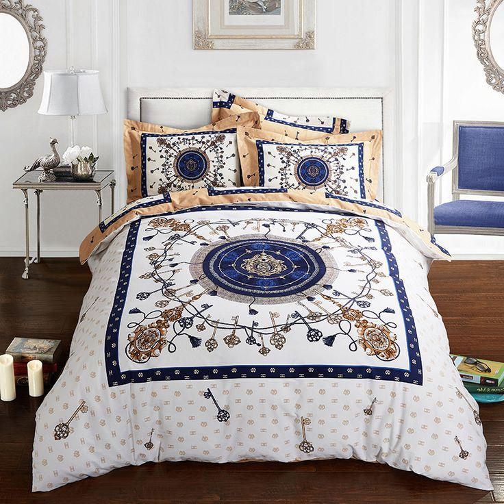 2017 New Bedding Set cotton Bed Sheets white Boho Duvet Cover Flat Bedspread Sets Home Textile Juegos de Sabanas Wholesale #Affiliate