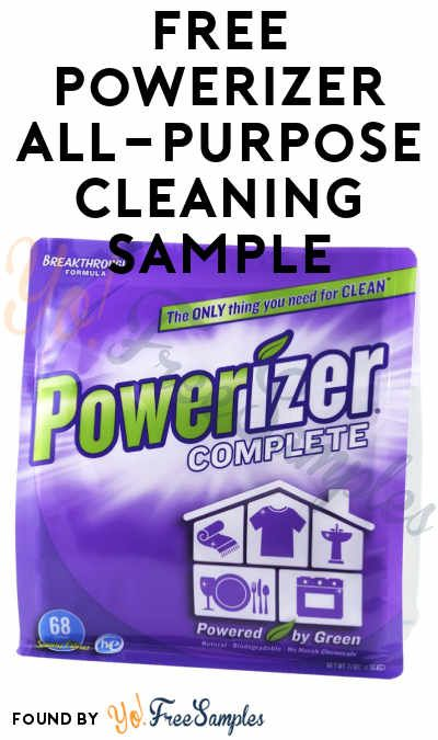 FREE Powerizer Complete All-Purpose Cleaning Product Sample (Short