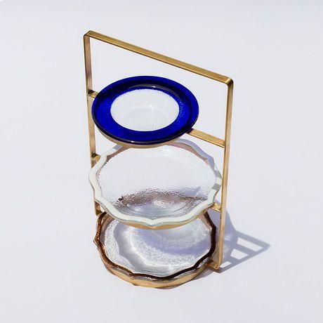 アフタヌーンティースタンド青白茶