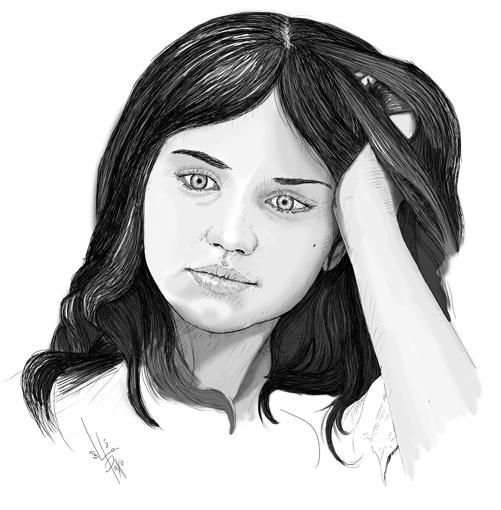 Retrato de Ana de Armas `Carolina´- El Internado (2009) pablouria.com