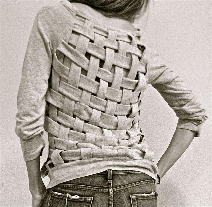 DIY: basket weave shirt