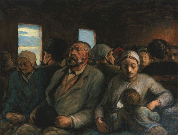 Daumier 'Third Class Carriage'
