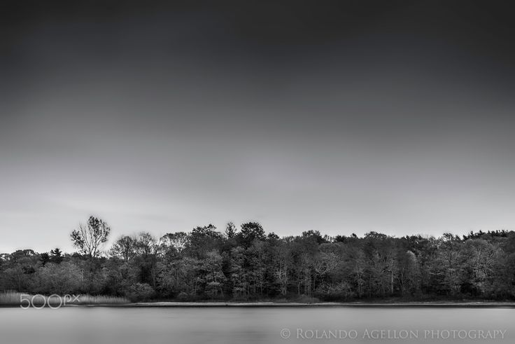 Simplicity - Black and White photo of a lake in Long Island NY
