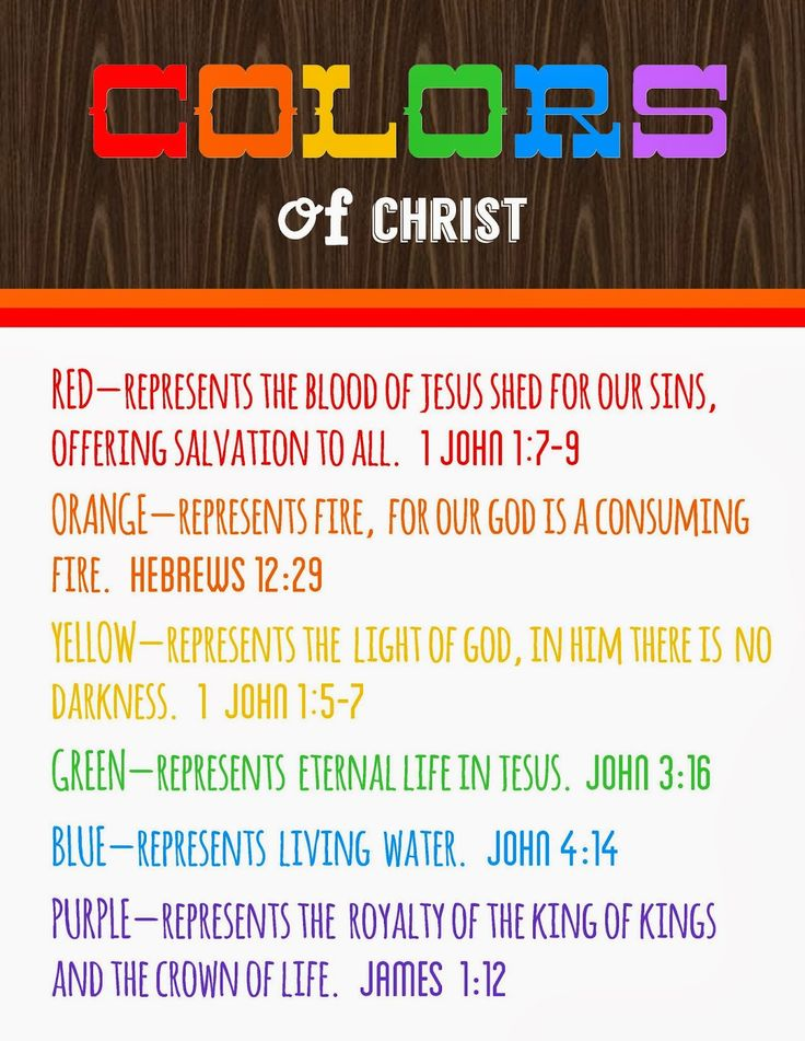 colors of christ - meanings free printable