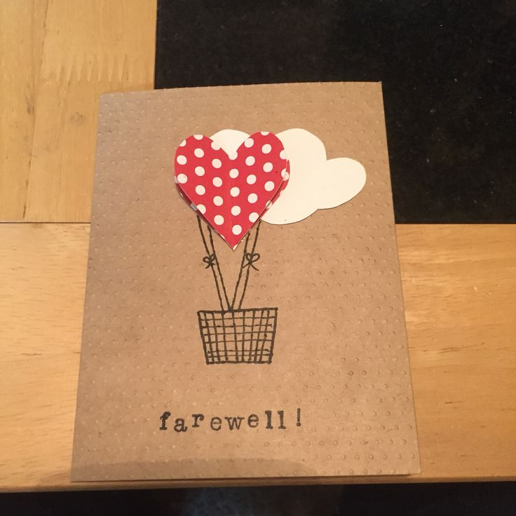 Image result for diy brown goodbye card for teachers