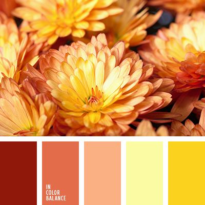 This bright, colorful range. Burning his hot heat. Joyful fellowship shades of yellow, peach and red. This splendor of colors able to douse the heat of cold autumn evenings. Therefore, perfectly fit into the room longing for sunlight. The base color is right or lemon pastel peach. Brighter colors are accentual.