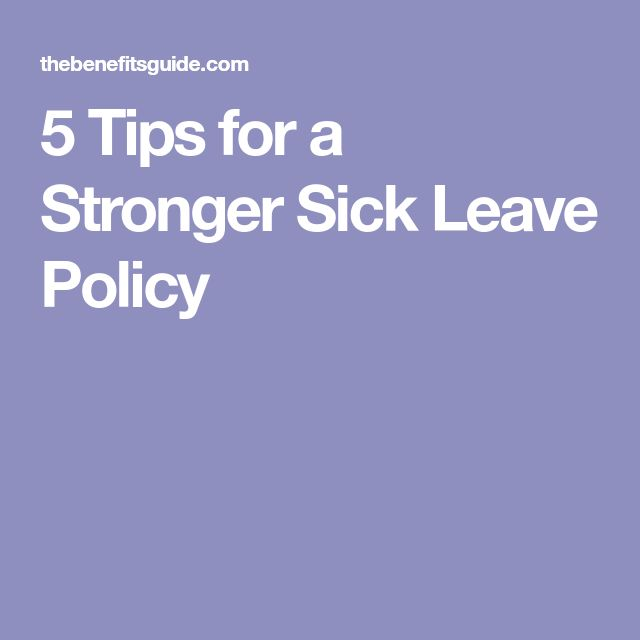 5 Tips for a Stronger Sick Leave Policy