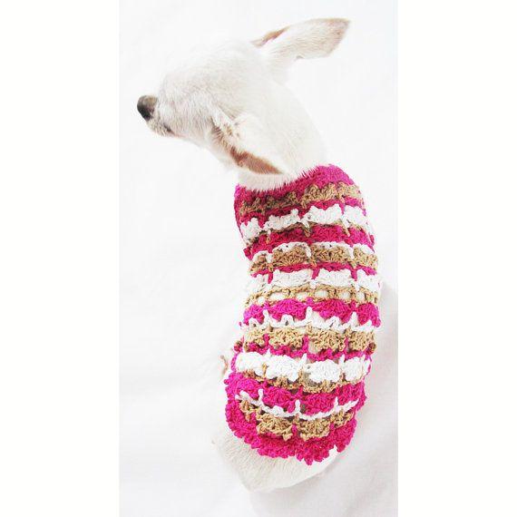 Taza de té rosa perro ropa rústica Dachshund ropa gato por myknitt