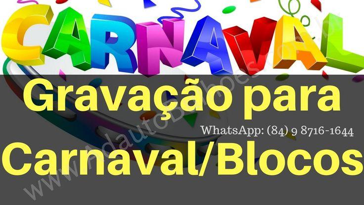 Spots blocos de carnaval, Vinheta para carnaval, Offs carnaval, Gravação...
