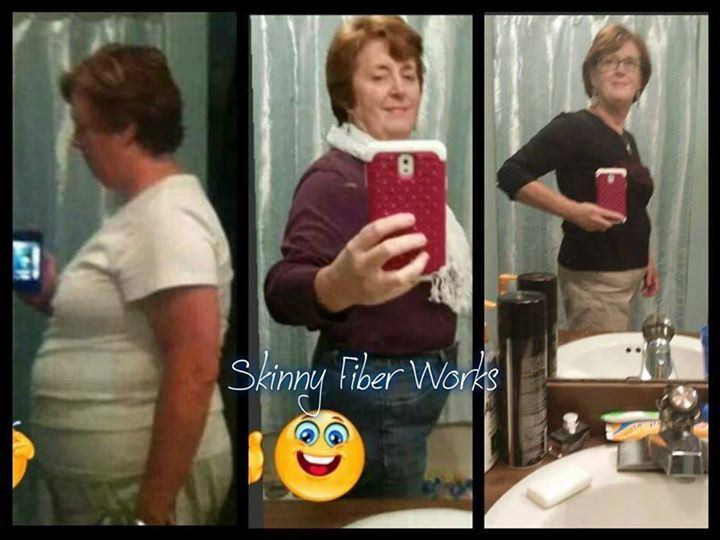 Woohoo!! Gayle is doing great!! Order your Skinny Fiber: www.brickett.sbc90.com  Gayle shares.... My latest picture update! I LOVE Skinny Fiber!! True confession...when I started, I was skeptical. Dieting did not work. My acid reflux was horrible (medication twice daily), I couldn't sleep well and my energy level was pitiful. Most evenings I would fall asleep in my chair before 9:00, totally exhausted! When I started taking Skinny Fiber I was at my highest weight ever, 202!! It scared me to…