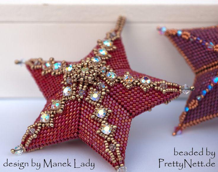 Christmas Ornaments - beaded by PrettyNett.de