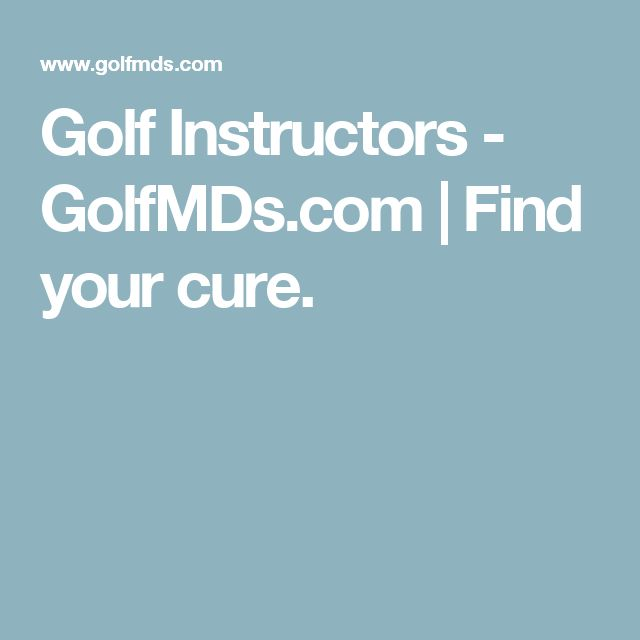 Golf Instructors - GolfMDs.com | Find your cure.