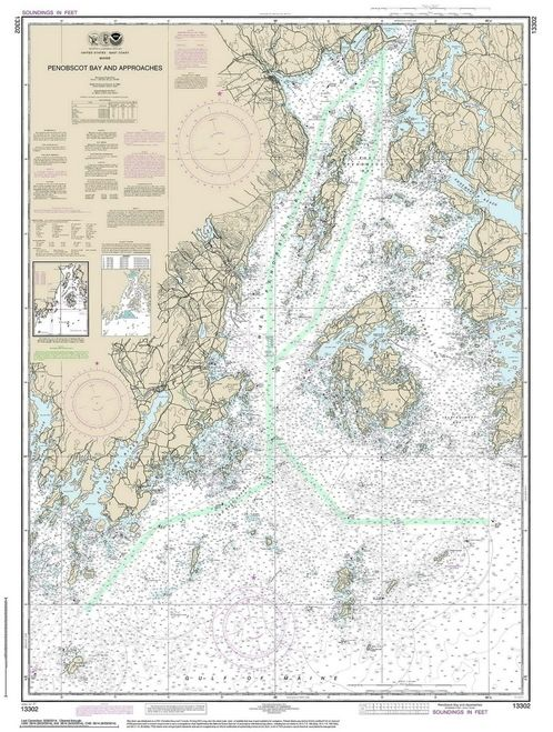 Penobscot Bay And Approaches 2014 80000 At Chart 1203 Nautical Chart Nautical Map Penobscot