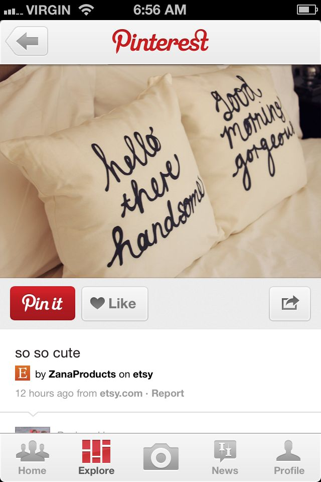 Pillows. PERFECT.