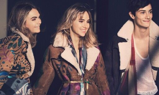 Cara Delevingne, Suki Waterhouse and Oli Green. #AGDLM #fashion #moda #CaraDelevingne #SukiWaterhouse #OliGreen