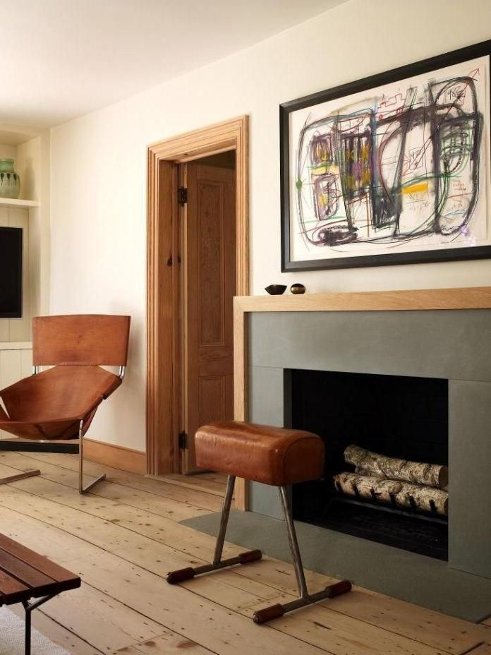 Interior : Classic Modern Fireplace Mantel Made Of Bluestone With ...