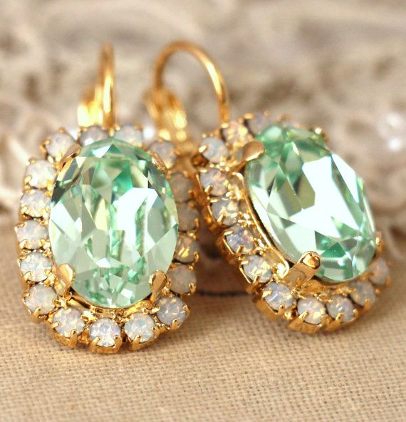 Hey, I found this really awesome Etsy listing at https://www.etsy.com/listing/224022456/mint-green-drop-earrings-swarovski-mint