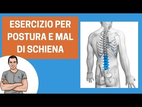 Postura e mal di schiena: un esercizio super-efficace - YouTube