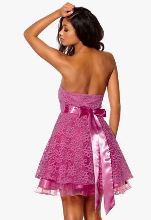 Model Behaviour Cecilie Dress Hot Pink