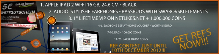 Win a iPad2, Headphones from BussBudds or some other Prices