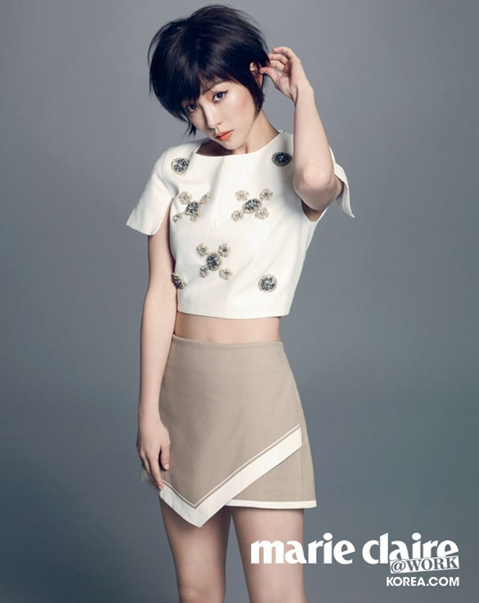 Short Haired Han Ji Min Is Cute Sexy For Marie Claire Korea