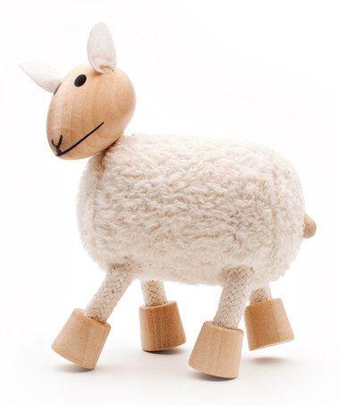Take a look at this Sheep Wooden Toy by anamalz on @zulily today!