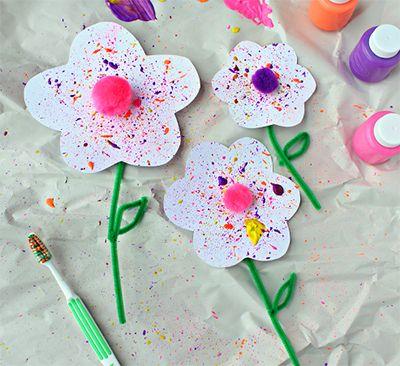Цветы - Поделки с детьми | Деткиподелки