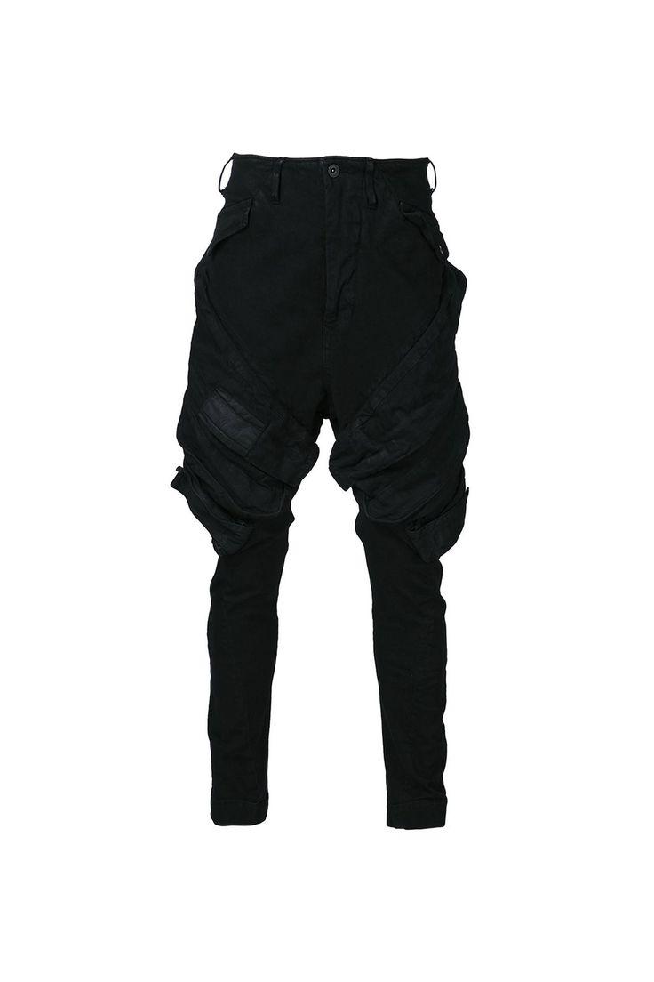 {Julius / 01 Clothing / 03 bottom / 02 denim} Stretch Denim Cargo Jeans