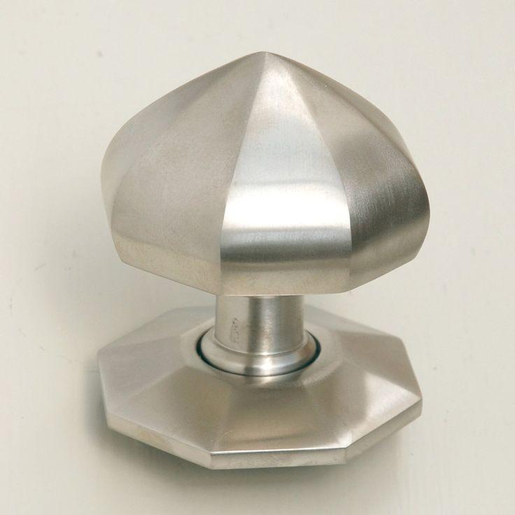 satin nickel pointed octagonal door knobs british made willow u0026 stone