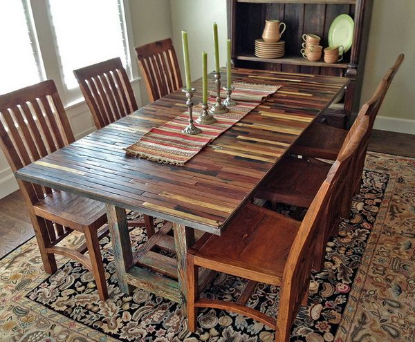 Fabulous Effects Of Reclaimed Wood Dining Table  Http Alluring Wood Dining Room Table Design Decoration