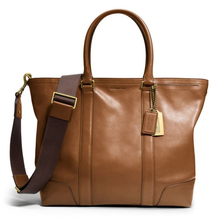 The Bleecker Legacy Business Tote In Leather from Coach - Perfect for Laptop and Work files!