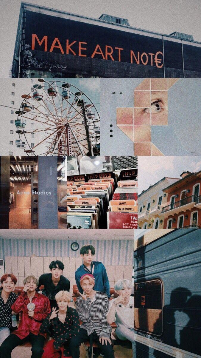 Kpop Bts Bangtan Wallpaper Tumblr Aesthetic Iphone Di