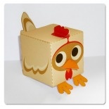 foldable paper toy chicken: free printable  http://paperboxworld.weebly.com/the-boxes.html#