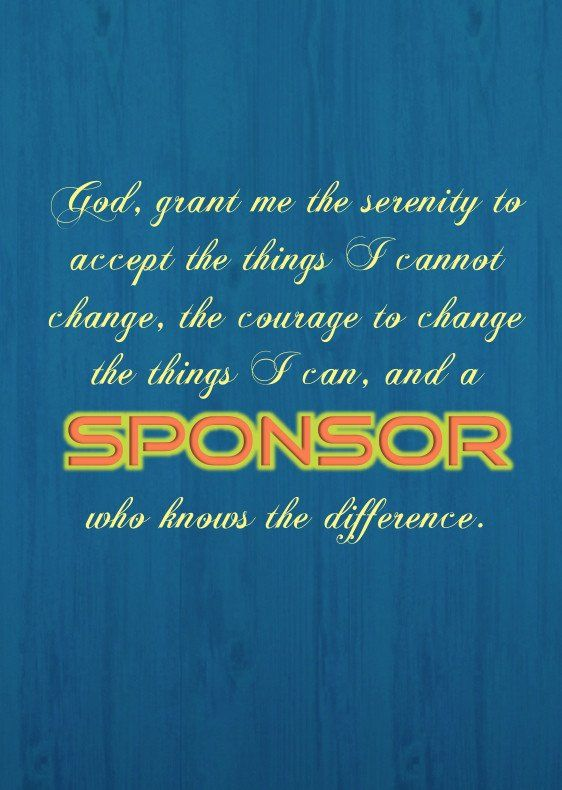 """Serenity Prayer / Sponsor"" Funny Sobriety Card"