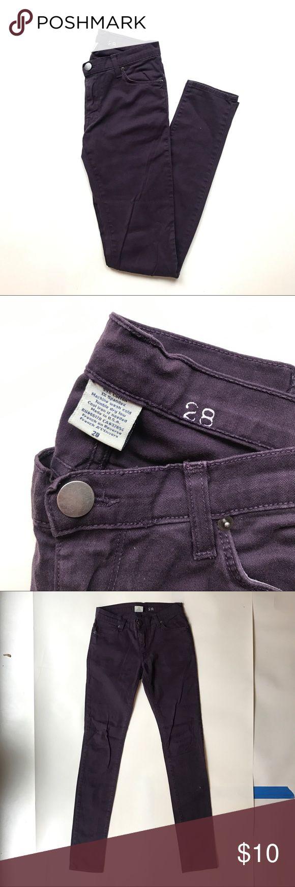 BDG Skinny denim Deep purple skinny pants BDG Pants