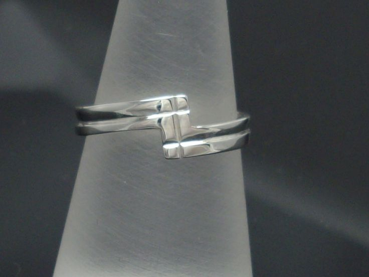 """Sterling Silver """"Z"""" ring, One Off size """"K 3/4"""" www.carellajewellers.com"""