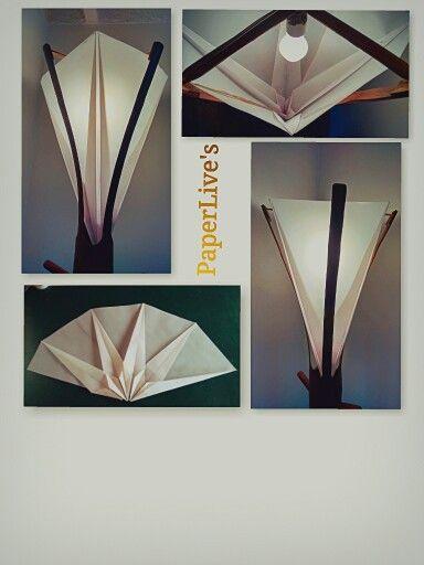 Lámparas de Origami, éstas son diseño propio.  My own design Origami lamps.