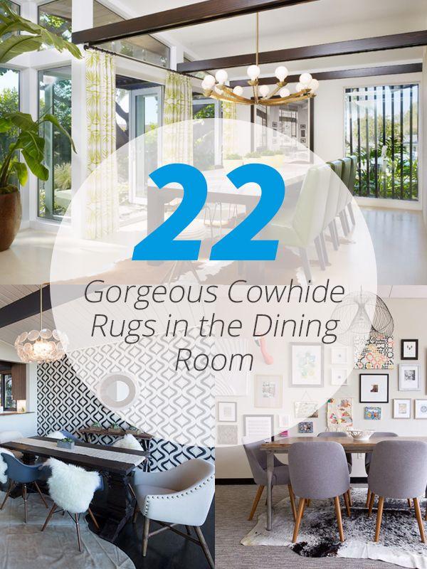 22 Gorgeous Cowhide Rugs In The Dining Room My Decor Home Decor Ideas Cowhide Rug Dining Room Cow Hide Rug Elegant Dining Room