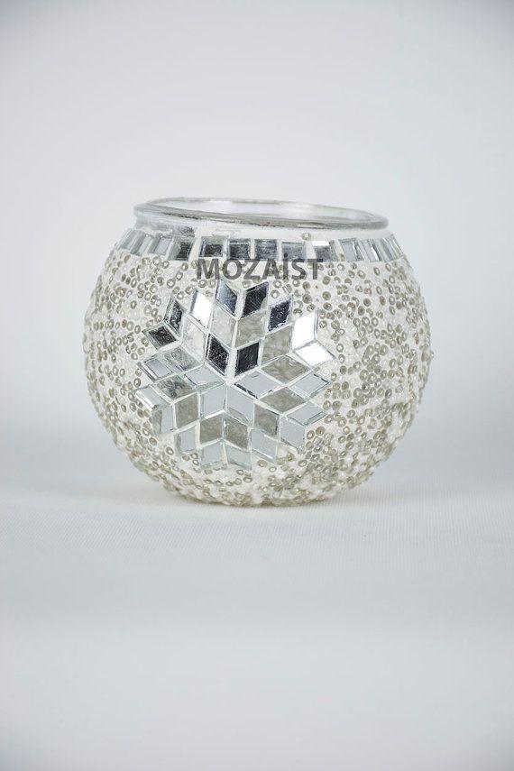 Sostenedor de vela del mosaico mosaico por MadeinTurkeyproduct