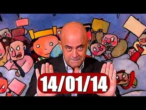 """▶ BALLARO' CROZZA DEL 14 GENNAIO 2014 """" FRANCESI SIETE INDIETRO ! """" - YouTube"""