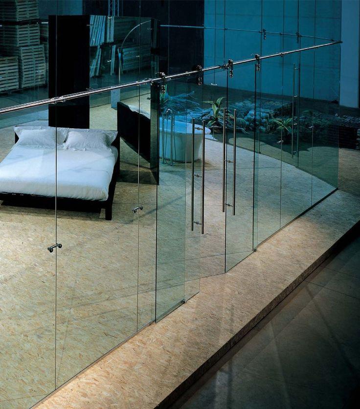 7 best Puertas abatibles de cristal images on Pinterest Glass - innovative raumteiler system