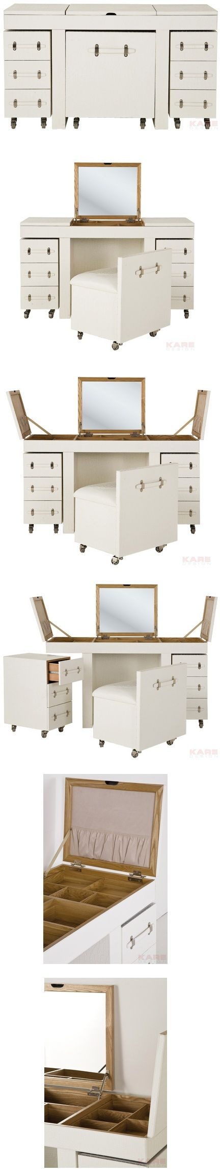 A compact vanity/dresser | The White Diva dressing table