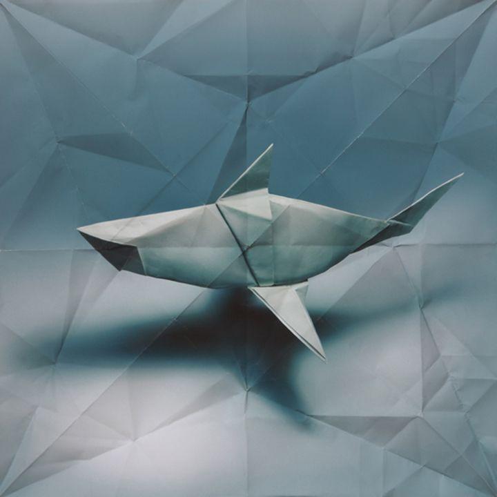 Dieren van origami worden onderdeel van het geheel