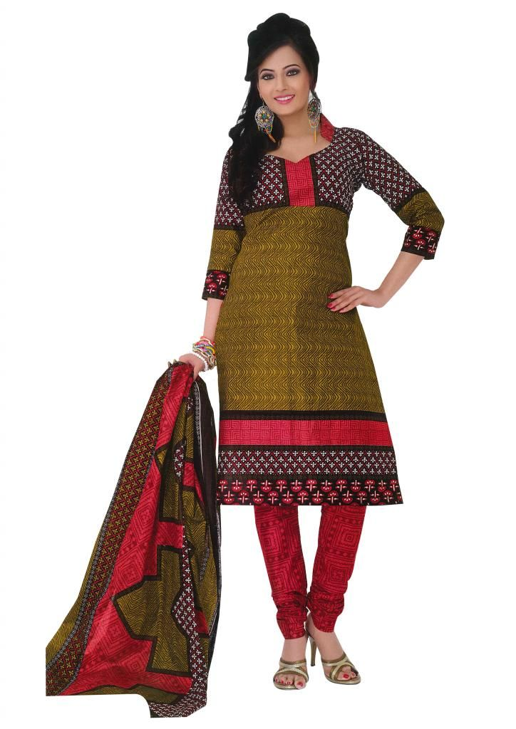 """#Cotton #Dress materials is ONLY for 799/-.   100/- #Discount on Couponcode """"EQ100"""".  FREE SHIPPING   EASY RETURNS   CASH ON DELIVERY !!!!  Shop Here: http://www.ethnicqueen.com/eq/dress-materials/"""