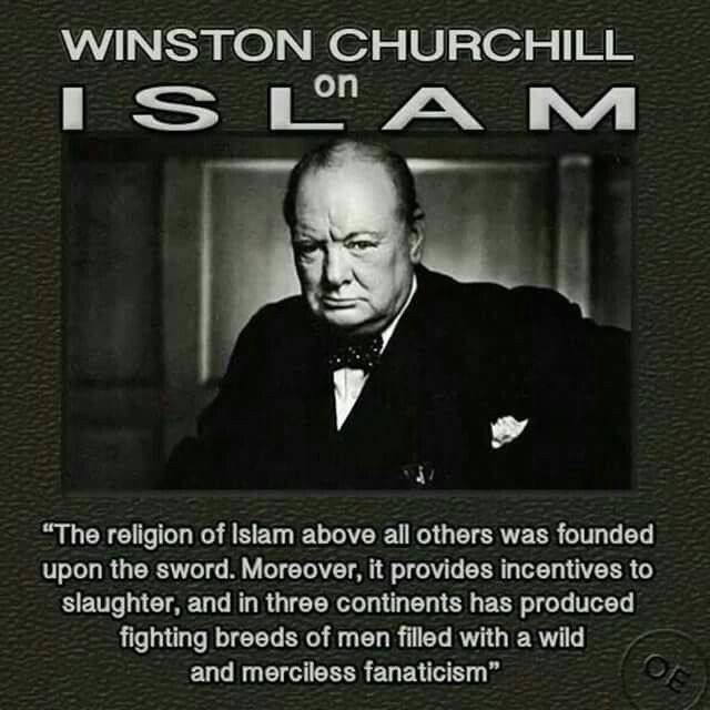 winston churchill essay on islam John quincy adams, our sixth president summs up his thoughts about the religion of islam in one short sentence.
