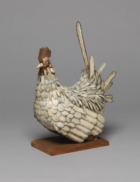 Bone cockerel by Unknown Artist: British Folk Art, Tate Britain.