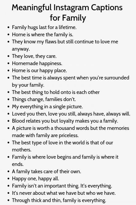 17 Family Quotes For Instagram Family Quote Quoteslife99 Com In 2020 Instagram Captions Family Birthday Captions Instagram Birthday Captions
