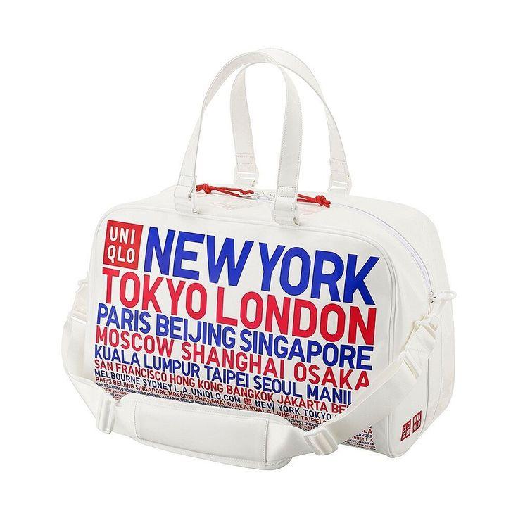 2016 Aug New Novelty UNIQLO Kei Nishikori Model Tennis Enamel Boston Bag white…
